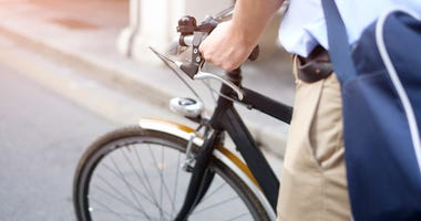 A cyclist.