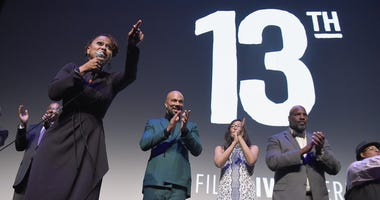 "Director Ava DuVernay speaks at the 54th New York Film Festival Opening Night Gala Presentation and ""13th"" World Premiere with Intro and Q&A at Alice Tully Hall at Lincoln Center on September 30, 2016 in New York City."