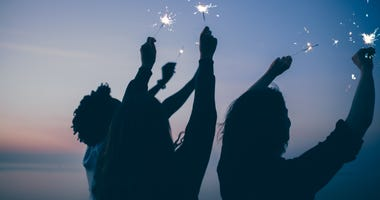 Friends celebrate July Fourth