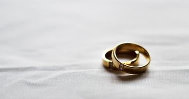 Two wedding rings.