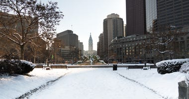 Logan Circle in winter