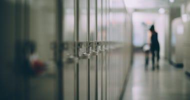 School hallway.