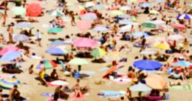 Blurred photo of a beach