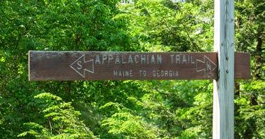Appalachian Trail sign.