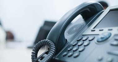 A telephone.