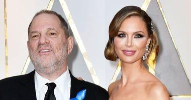 Harvey Weinstein and estranged wife Georgina Chapman