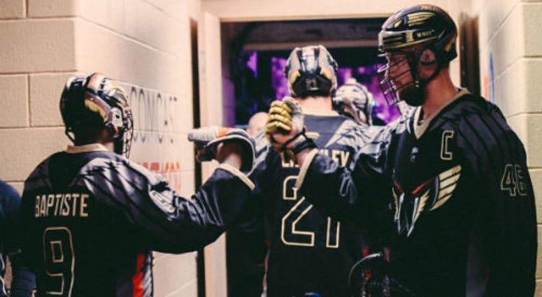 Trevor Baptiste & Kiel Matisz prepare for a game for the Philadelphia Wongs.
