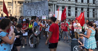 From City Hall to Philadelphia's Immigration and Customs Enforcement headquarters, hundreds marched through town hoping to abolish ICE once and for all.
