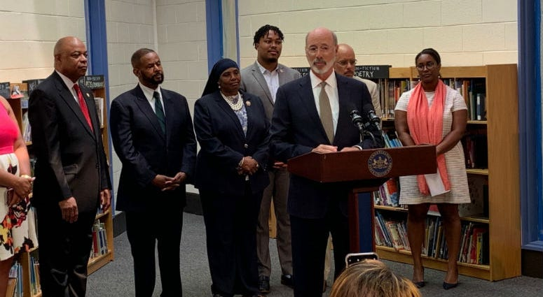 Gov. Wolf announced Wednesday that the state is kicking in extra money to help Philadelphia schools continue to remove lead paint from their buildings.