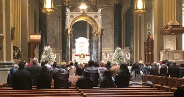 Christmas Eve services at the Cathedral Basilica of Saints Peter and Paul.