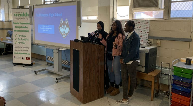 Students at Robeson High School.