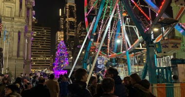 The Christmas festival around Philadelphia City Hall.
