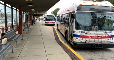 SEPTA buses at 69th Street Transportation Center.