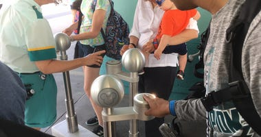 Through theTicket Tag system, it linksyour fingerprint to an admission bracelet that gets you into the park. Disney said each fingerprint is transformed into a unique numerical value.