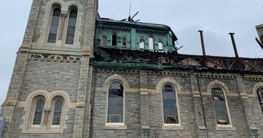 Greater Bible Way Temple months after a fire ravaged the church.