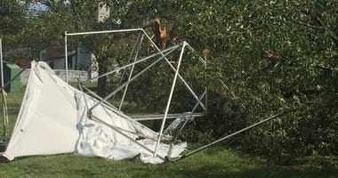 Jesus Focus Food Pantry tents knocked down from the storm
