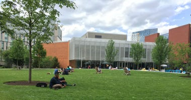The quad at Drexel University is the heart of campus. And after four years, its face-lift was completed Wednesday.