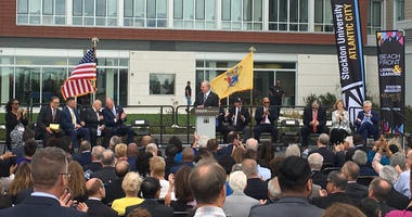 Stockton University held a ribbon-cutting ceremony for its new beachfront campus in Atlantic City.
