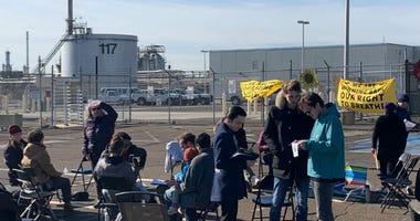 Environmental activists occupy PES refinery.