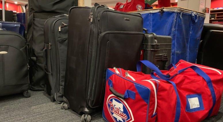 Phillies' equipment.