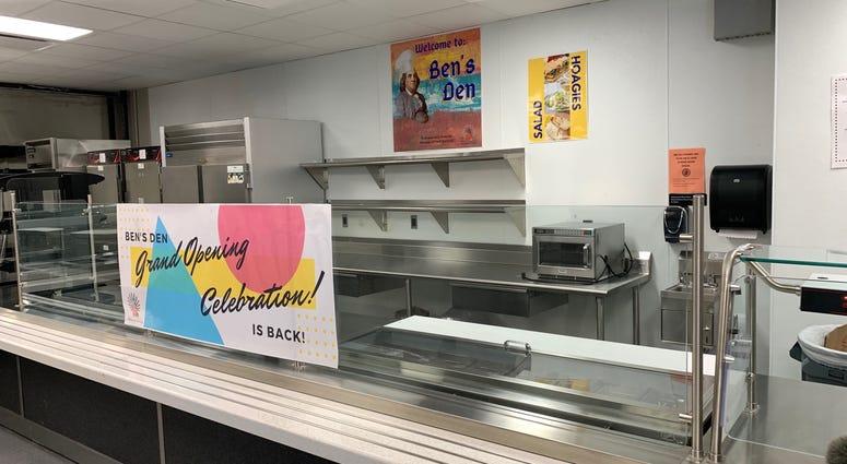 """The refurbished Ben Franklin cafeteria, nicknamed """"Ben's Den."""""""