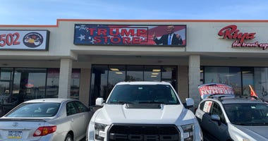 A Donald Trump-themed store in Bucks County is grabbing a lot of attention — and customers — as it sells gear with a focus on the 45th president.