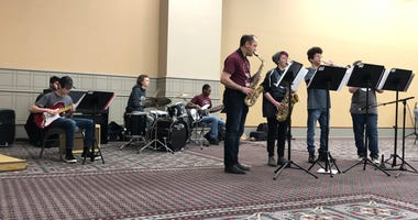 The Jazz Mavericks from the Pennsylvania Leadership Charter School in West Chester kicked things off at the first-ever National Jazz Festival at the Pennsylvania Convention Center in Center City.