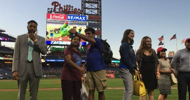 Before Tuesday night's Phillies game at Citizens Bank Park, 20 people became American citizens.