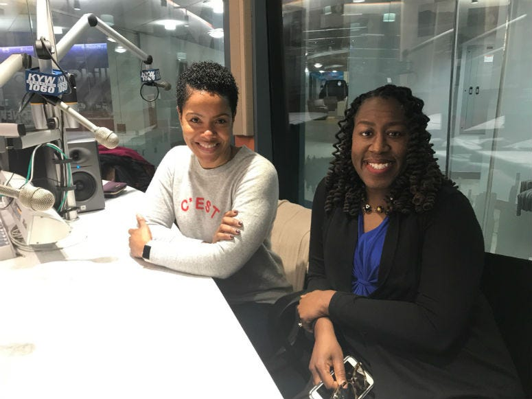 Stephanie Humphrey and LiRon Anderson-Bell.