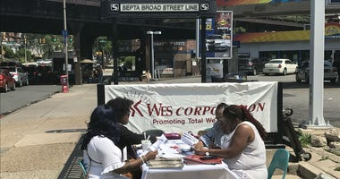 WES Health System and the National Coalition of 100 Black Women held a free mental health screening in Northwest Philadelphia on the corner of Windrim Avenue and Broad Street.