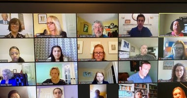 Photo of an online town hall with Philadelphia-area high school students discussing racism.