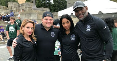 The heartbreak of losing a loved one to suicide brought thousands of people to the steps of the Philadelphia Museum of Art Sunday morning for the annual Out of the Darkness Walk.
