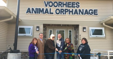 The ribbon-cutting ceremony at Voorhees Animal Orphanage's new headquarters