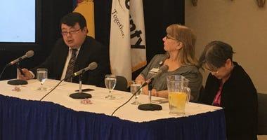 Camden County Medical Director Dr. Rick Hong is shown at left.