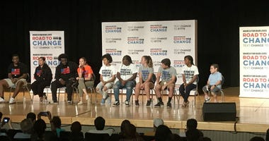 During the March For Our Lives Road to Change town hall tour, students from Marjory Stoneman Douglas High School spoke of their experiences during the shooting and why they are advocating for gun reform.