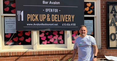 John Brant-Lee, owner of Bar Avalon in West Chester, has been selling pay-as-you-wish dinners to raise money for local charities, and has also been donating lunches and dinners to first responders.