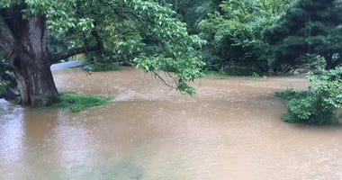 Flooding in Chester County, Pa.