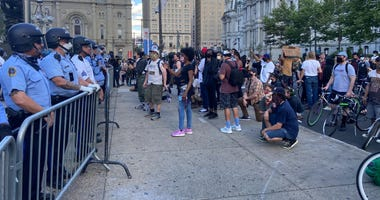 Protesters at Dilworth Park