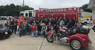 The Stratford Fire Department welcomed local veteran Scott Maulo back home, where he also served as a volunteer firefighter.