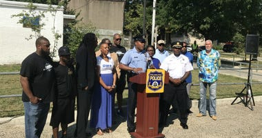 Philadelphia Police Department officials announce the start of the initiative Turning a New Corner.