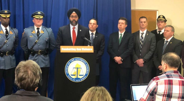 New Jersey Attorney General Gurbir Grewal announces a new partnership with Pennsylvania that's aimed at getting illegally trafficked guns off the street