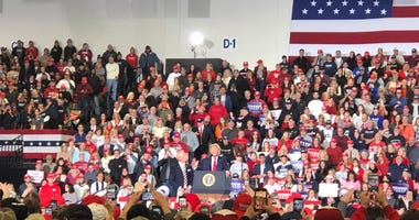 President Trump at a Wildwood rally.