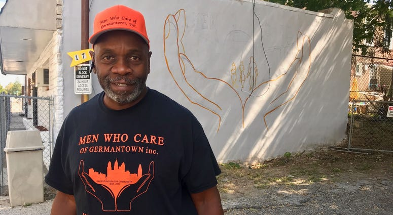 """Keith Pate of the nonprofit Men Who Care of Germantown: """"We're trying to just revive this community."""""""