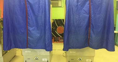 Voting booths at Starr Garden Rec Center at Sixth and Lombard streets.