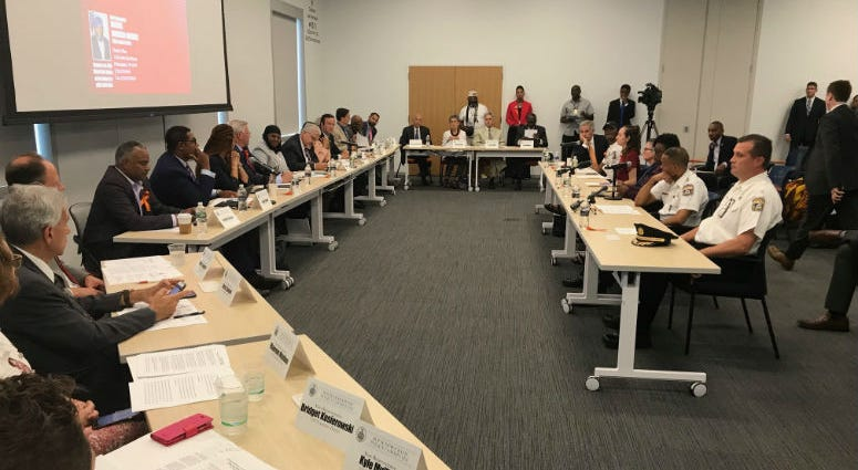 Roughly two dozen lawmakers from across Pennsylvania gathered in University City Tuesday for a hearing on gun violence, where elected officials looked at causes and impact, but also asked for solutions.