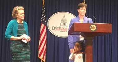 Pennsylvania Secretary of Human Services Teresa Miller with her three-year-old daughter.
