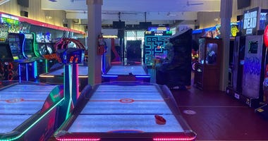 Inside of Jilly's Arcade in Ocean City, New Jersey