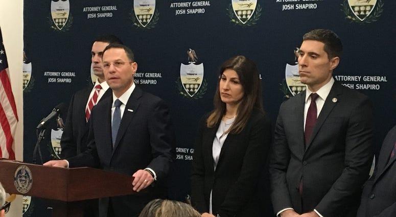Josh Shapiro announces corruption charges against Pa. state Rep. Movita Johnson-Harrell.