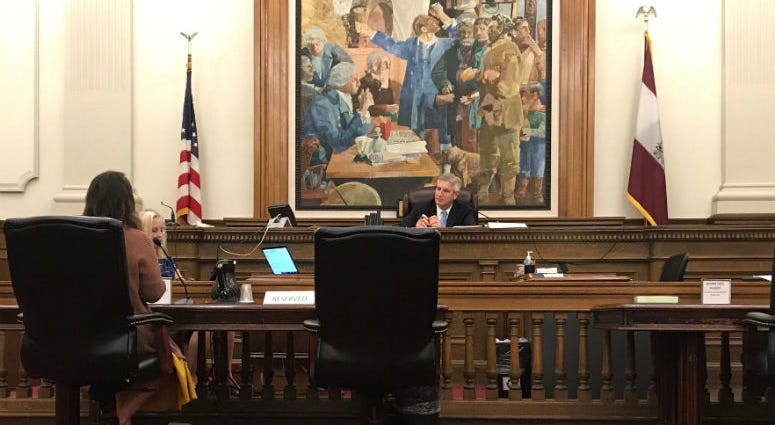 Pennsylvania Commission on Sentencing vice-chair Todd Stephens runs the commission's first hearing on sentencing enhancements in Montgomery County Court in Norristown.