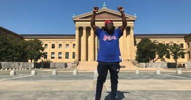 Philadelphia rapper Freeway at the Art Museum.